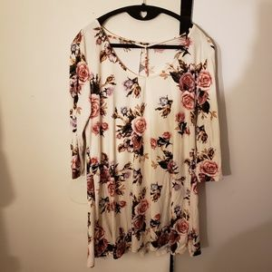 Rue21 White Floral Tunic Dress